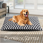 i.Pet Extra Extra Large Canvas Pet Bed - Black & White