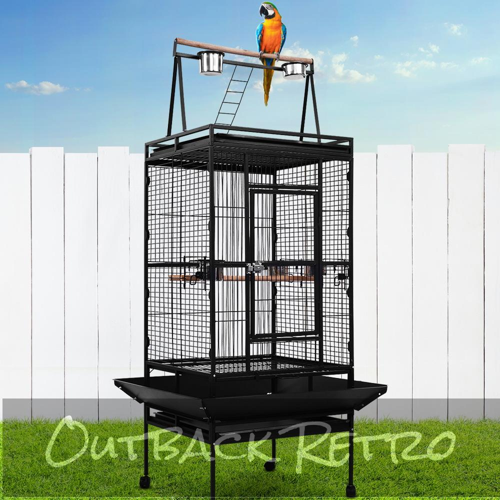 i.Pet Bird Cage Pet Cages Aviary 173CM Large Travel Stand Budgie Parrot Toys