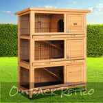 i.Pet Rabbit Hutch Large Waterproof Outdoor Pet House Rabbit Guinea Pig Ferret Hamster 91.5cm x 46cm x 116.5cm