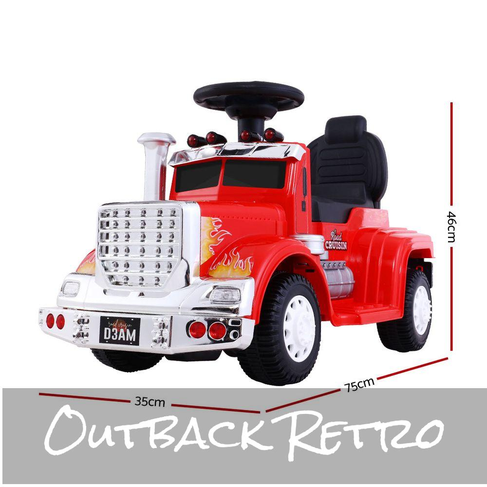 RIGO Ride On Kids Electric Toy Truck Red