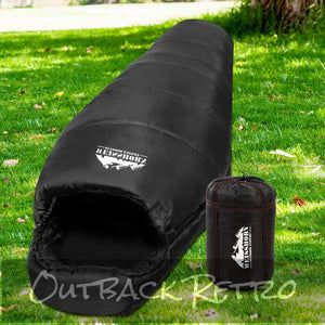 Weisshorn Single Thermal Sleeping Bag - Black