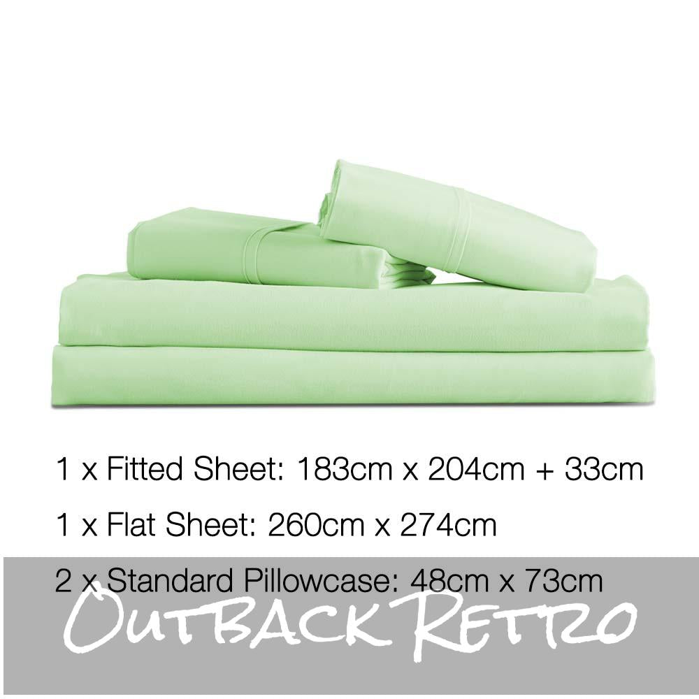 Giselle Bedding King Size 4 Piece Micro Fibre Sheet Set - Apple