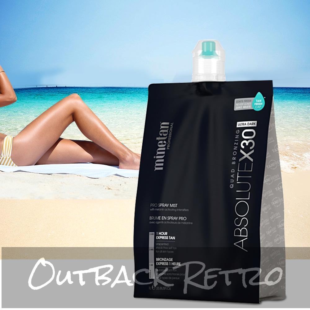 MineTan Professional Spray Tan Solution 1Litre Sunless Tanning Absolute x30