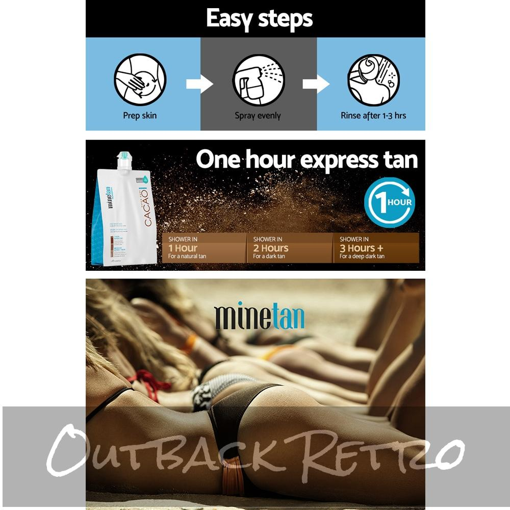 Minetan Professional Sunless Spray Tan Solution - Cacao