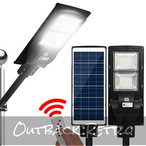 LED Solar Street Flood Light Motion Sensor Remote Outdoor Garden Lamp Lights 120W
