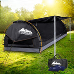 Weisshorn Double Camping Swag Canvas - Dark Grey Includes 2 x Air Pillows