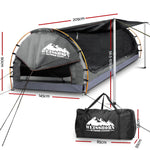 Weisshorn Double Camping Swag Canvas - Grey