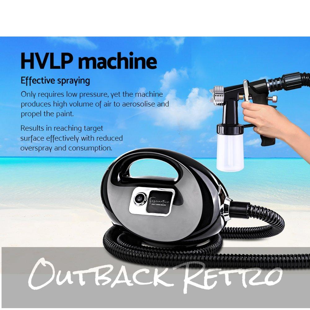 Professional Spray Tan Machine Sunless Tanning Gun Kit HVLP System Black