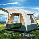 Weisshorn Instant Up Camping Tent 4 Person Pop up Tents Family Hiking Dome Camp