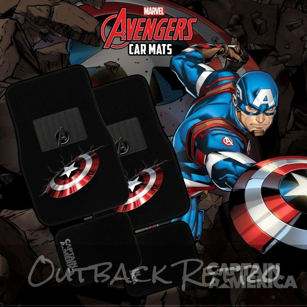 MARVEL AVENGERS 4-Piece Car Mat - CAPTAIN AMERICA