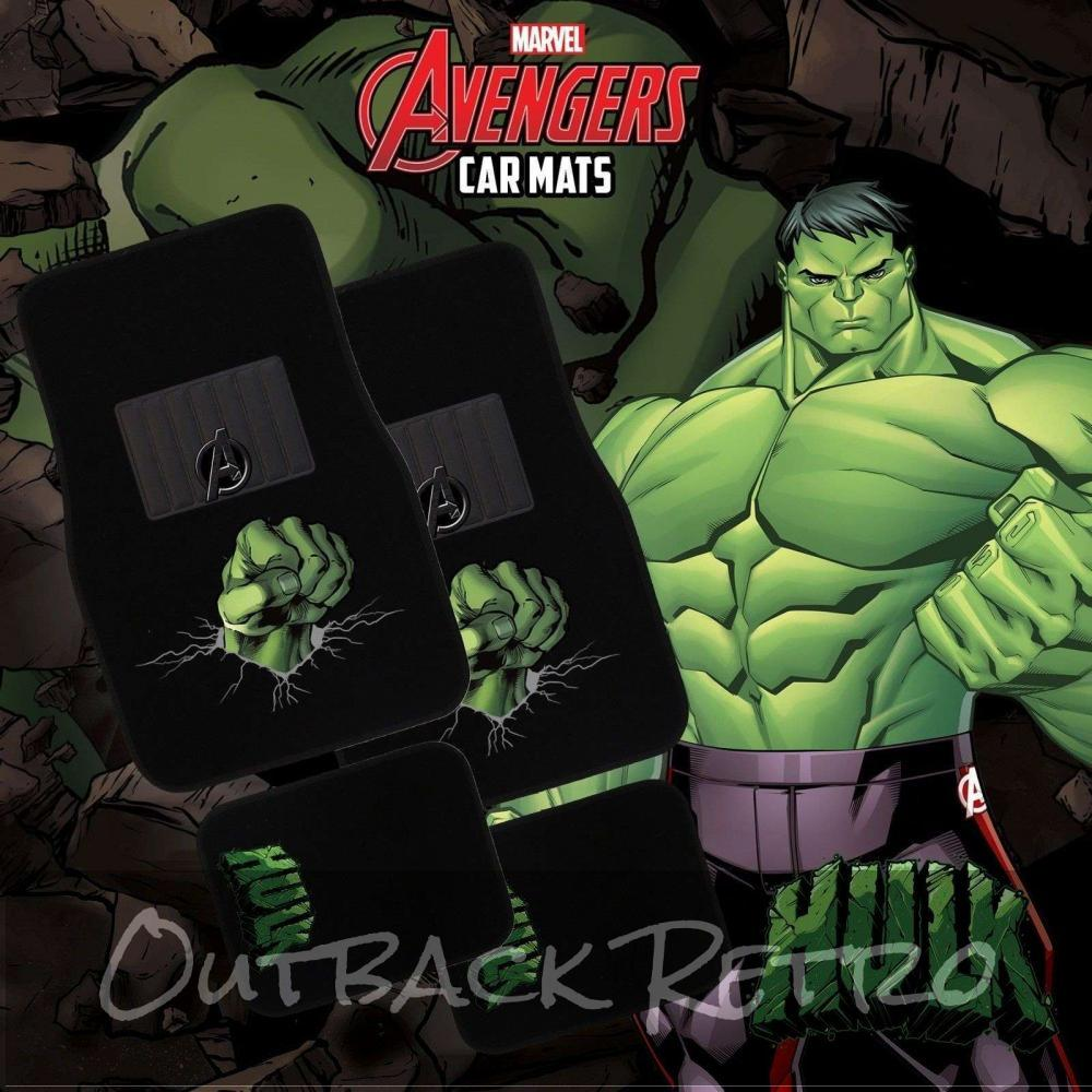 MARVEL AVENGERS 4-Piece Car Mat - HULK