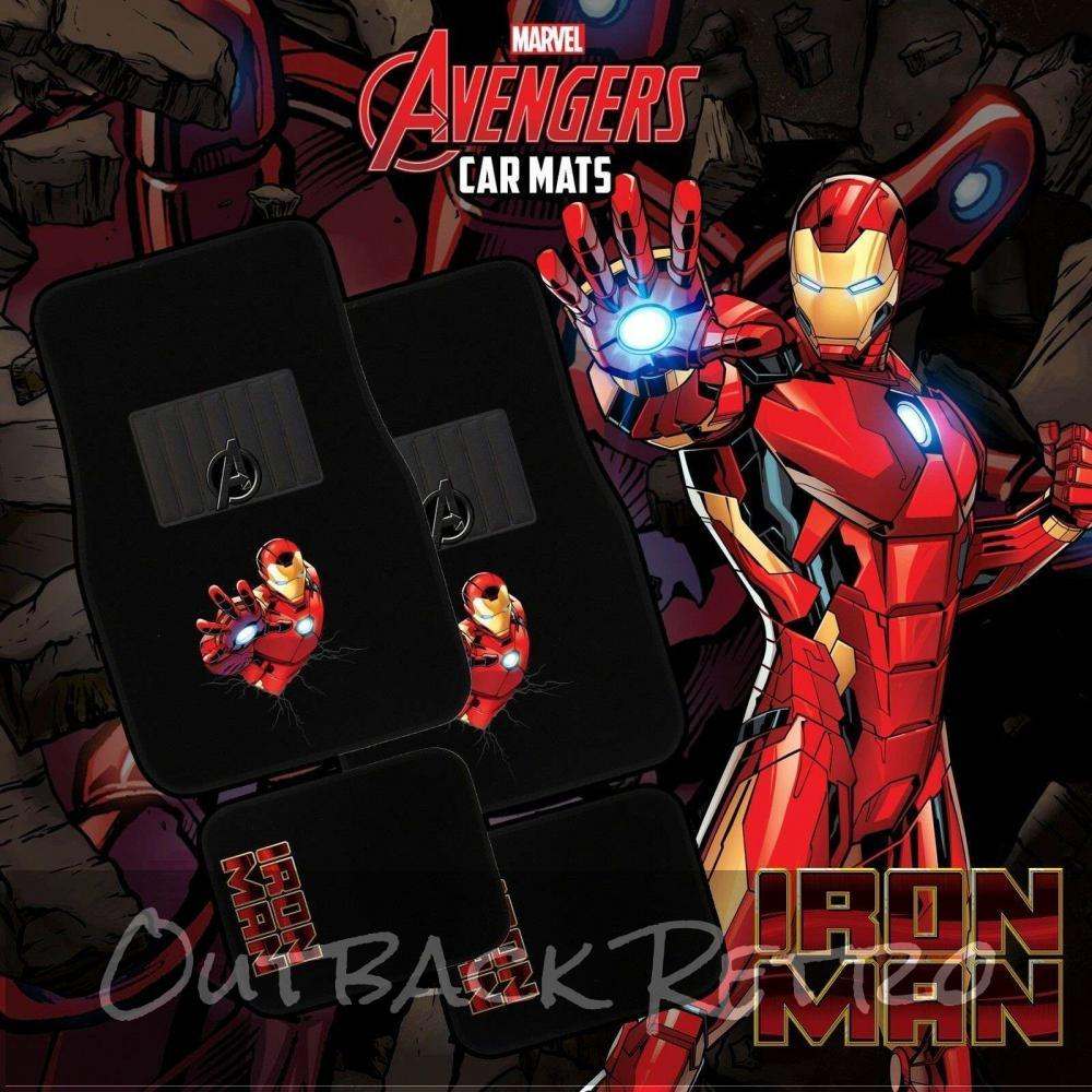 MARVEL AVENGERS 4-Piece Car Mat - IRON MAN