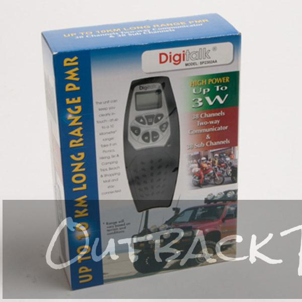 DIGITALK Personal Mobile Radio PMR-SP2302AA UHF CB Radio 3W up to 10km Range