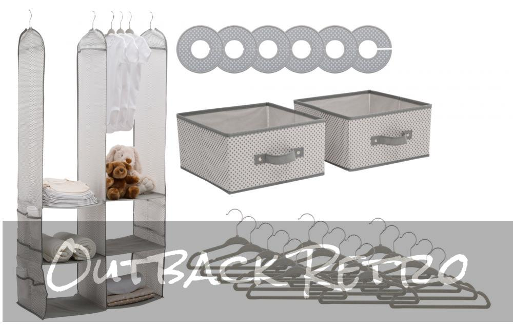 24 Piece Nursery Storage Set - Cool Grey