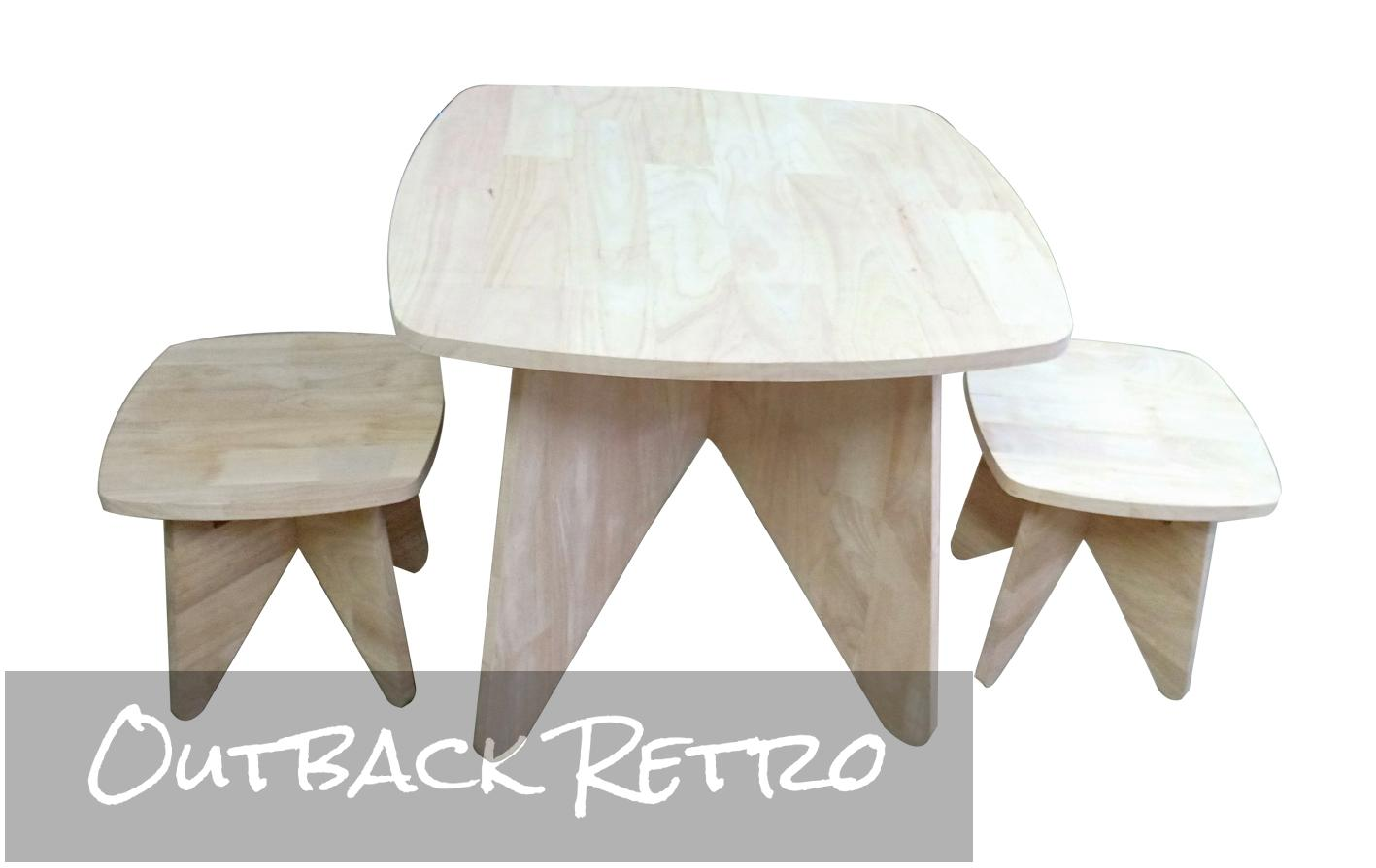 Retro Kids table and stool set