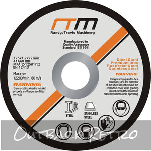 125mm 5 Cutting Disc Wheel for Angle Grinder x100""