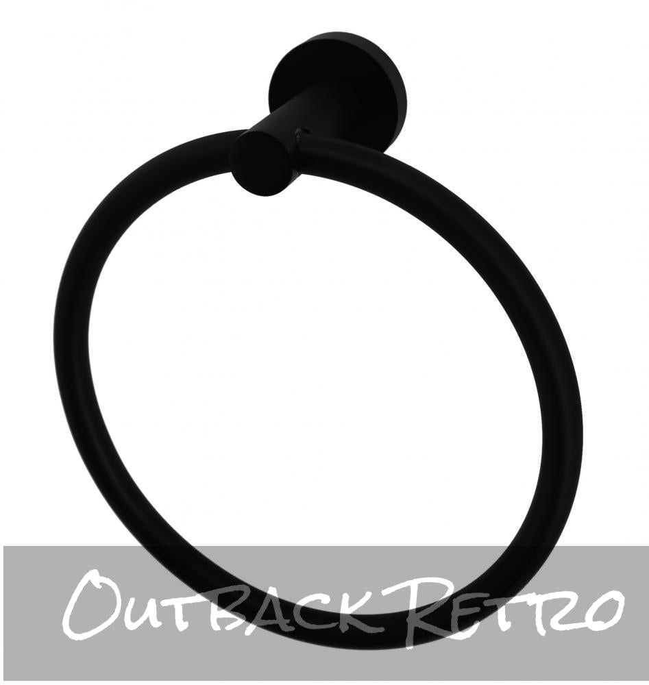 Classic Towel Bar Rail Ring Electroplated Matte Black Finish