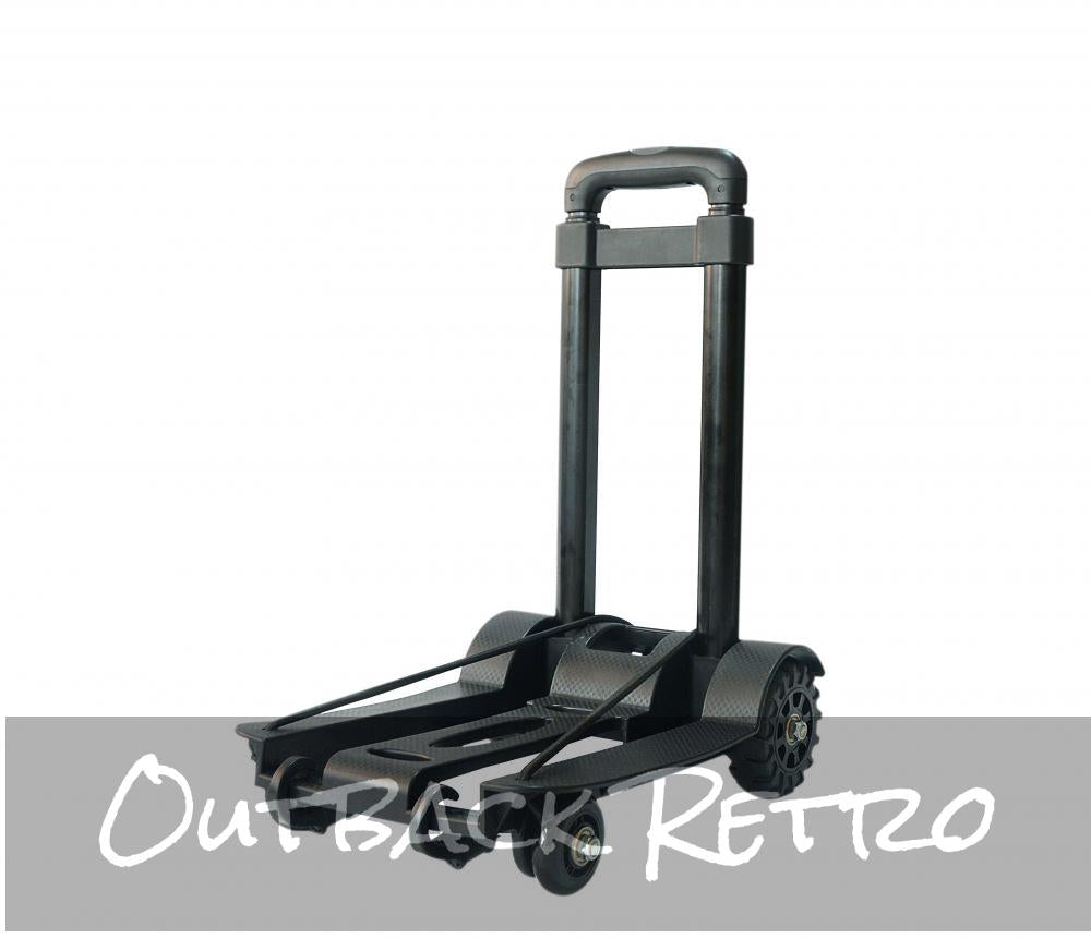 Portable Cart Folding Dolly Push Truck Hand Collapsible Trolley 75Kg