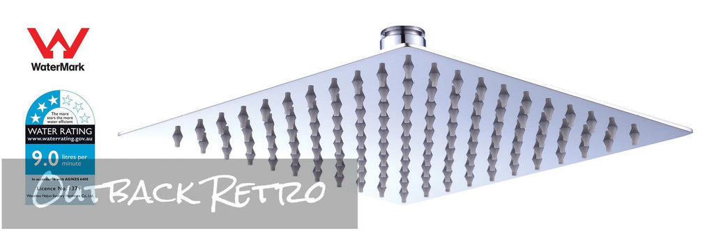 200mm Shower Head Square 304SS Polished Chrome Finish