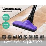 Devanti 120W Cordless Stick Vacuum Cleaner Handheld Handstick Vac Rechargeable Purple and Black