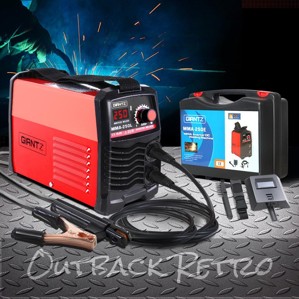 GIANTZ Portable Inverter Welder MMA ARC Stick iGBT DC Welding 15A Plug 250Amp
