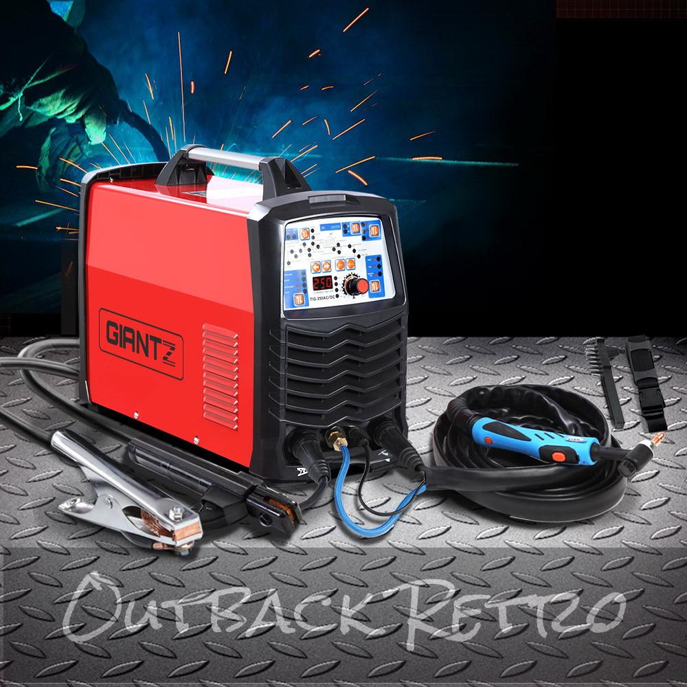 GIANTZ AC DC Inverter Welder TIG MMA Stick Welding Machine Pulse Function 250Amp