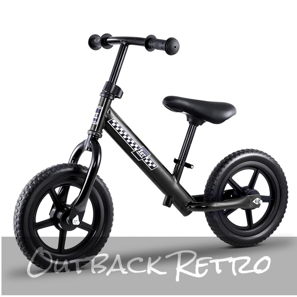 Rigo 12 Inch Kids Balance Bike - Black