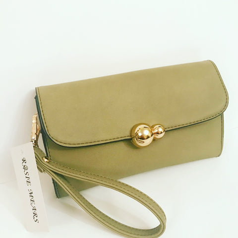 New! Wristlet Clutch Purse ( Olive Green)