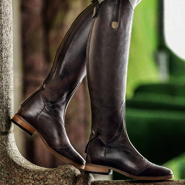 Women Round Toe Low Heel Horse Riding Boots