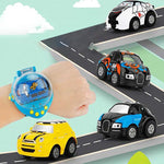 Mini Cartoon Gravity Watch Car