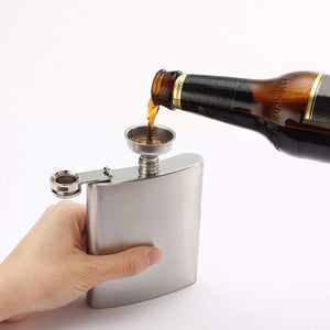 7 Oz Stainless Steel Hip Flask Set