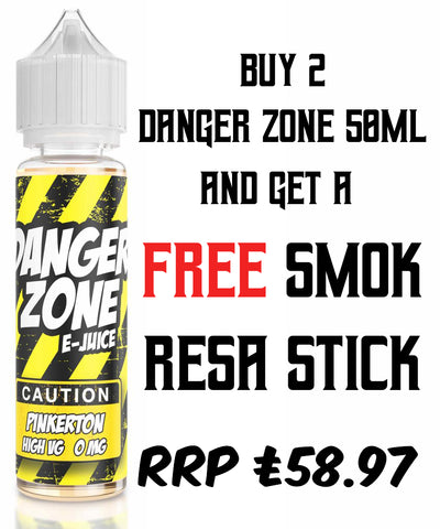 Danger Zone 2 x 50ml + FREE Smok Resa Stick