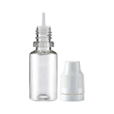 10ml PET Bottle with white top and Clear Nib