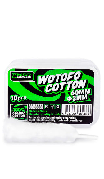 Wotofo Agleted Organic Cotton • 10 pieces 3ml