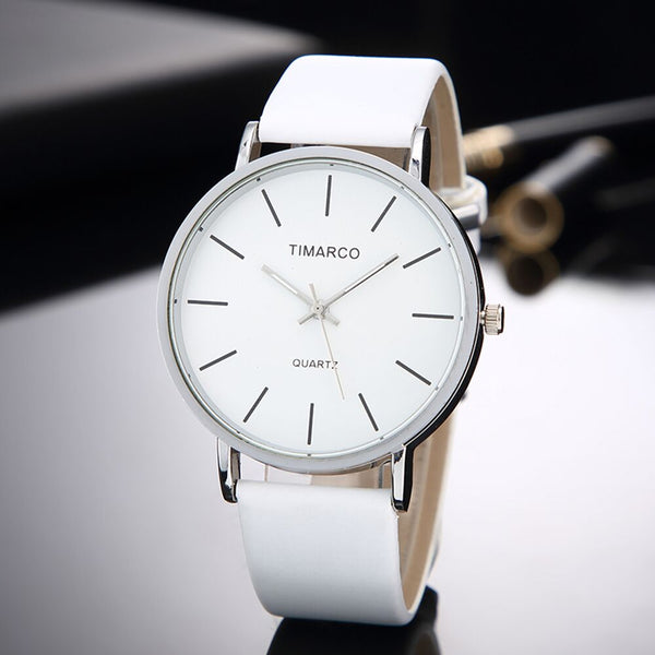 Simple Style White Leather Watch - Flash Sale Club