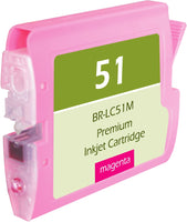 LC51M Brother Inkjet Compatible Cartridge, Magenta, 20ML