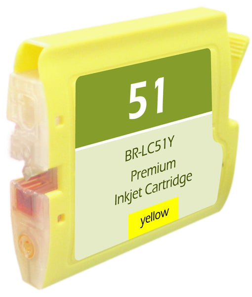 LC51Y Brother Inkjet Compatible Cartridge, Yellow, 20ML