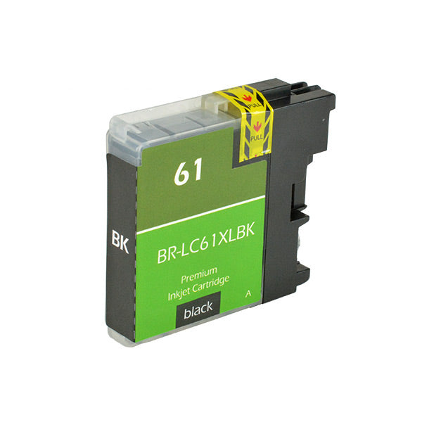 LC61XLBK Brother Inkjet Compatible Cartridge, Black, 28ML H.Yield