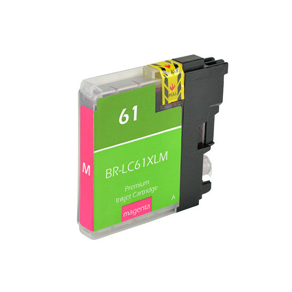 LC61XLM Brother Inkjet Compatible Cartridge, Mangeta,18ML H.Yield