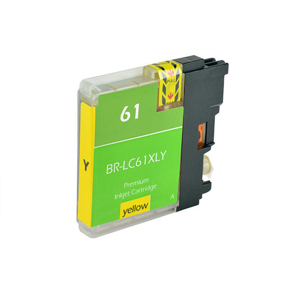 LC61XLY Brother Inkjet Compatible Cartridge, Yellow, 18ML H.Yield