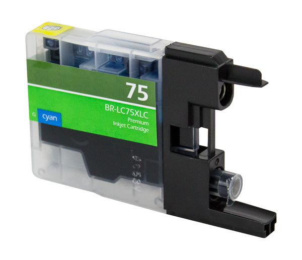 LC75XLC Brother Inkjet Compatible Cartridge, Cyan, 12ML H.Yield