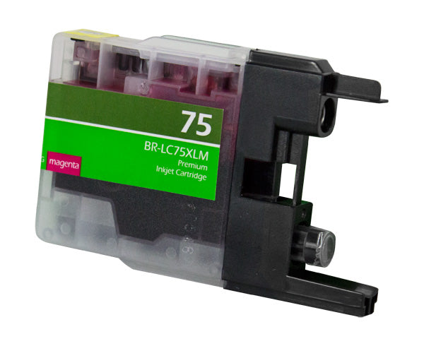 LC75XLM Brother Inkjet Compatible Cartridge, Magenta, 12ML H.Yield