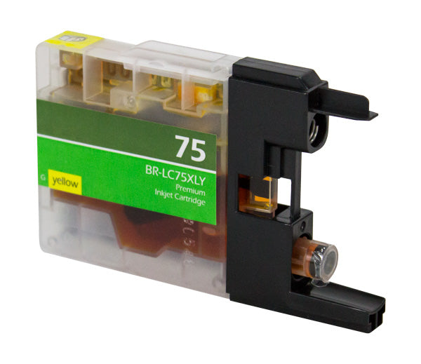 LC75XLY Brother Inkjet Compatible Cartridge, Yellow, 12ML H.Yield