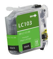 LC103BK Brother Inkjet Compatible Cartridge, Black, 19.4ML