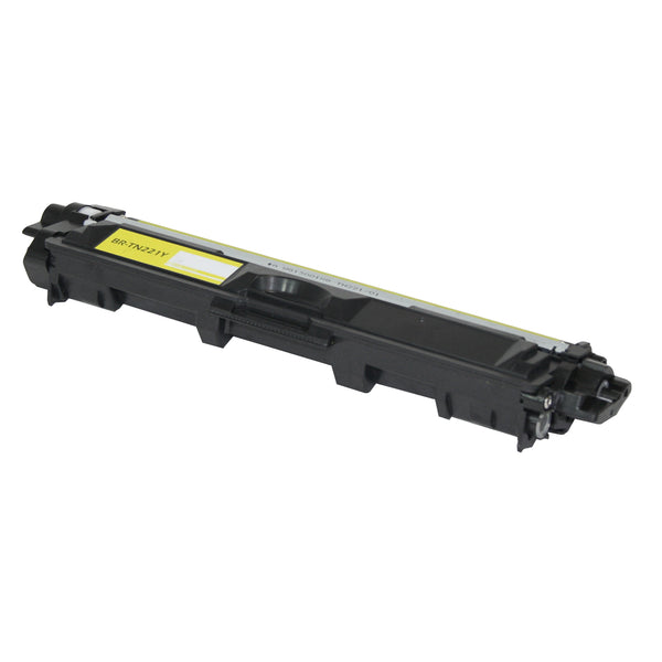 TN221Y Brother Compatible Toner, Yellow, 1.4K Yield