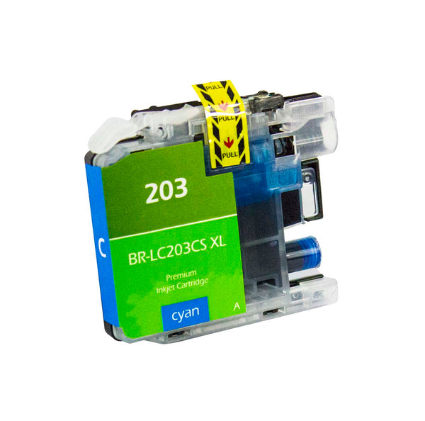 LC203CS Brother Inkjet Compatible Cartridge, Cyan, 9ML H.Yield