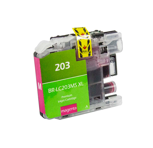 LC203MS Brother Inkjet Compatible Cartridge, Magenta, 9ML H.Yield