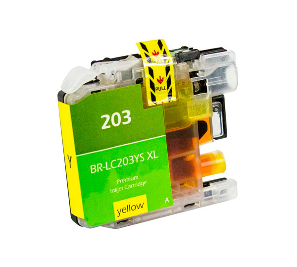 LC203YS Brother Inkjet Compatible Cartridge, Yellow, 9ML H.Yield