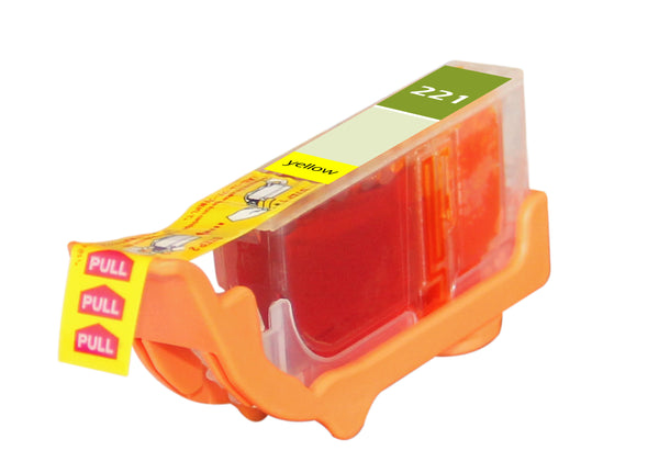 221 Canon Inkjet Compatible Cartridge, Yellow8.4ML