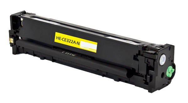 CE322A Hewlett-Packard Compatible Toner, Yellow, 1.3K Yield